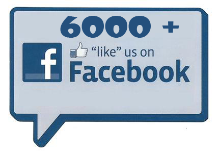 Over 6000 Likes on Facebook