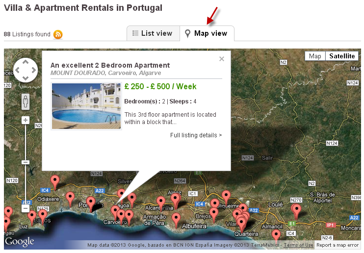 Google Map of Portugal